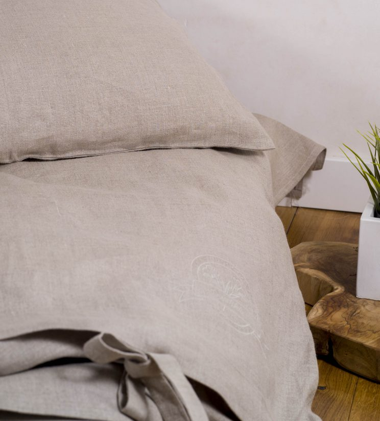 100% linen bedding + sheet set 140x200cm
