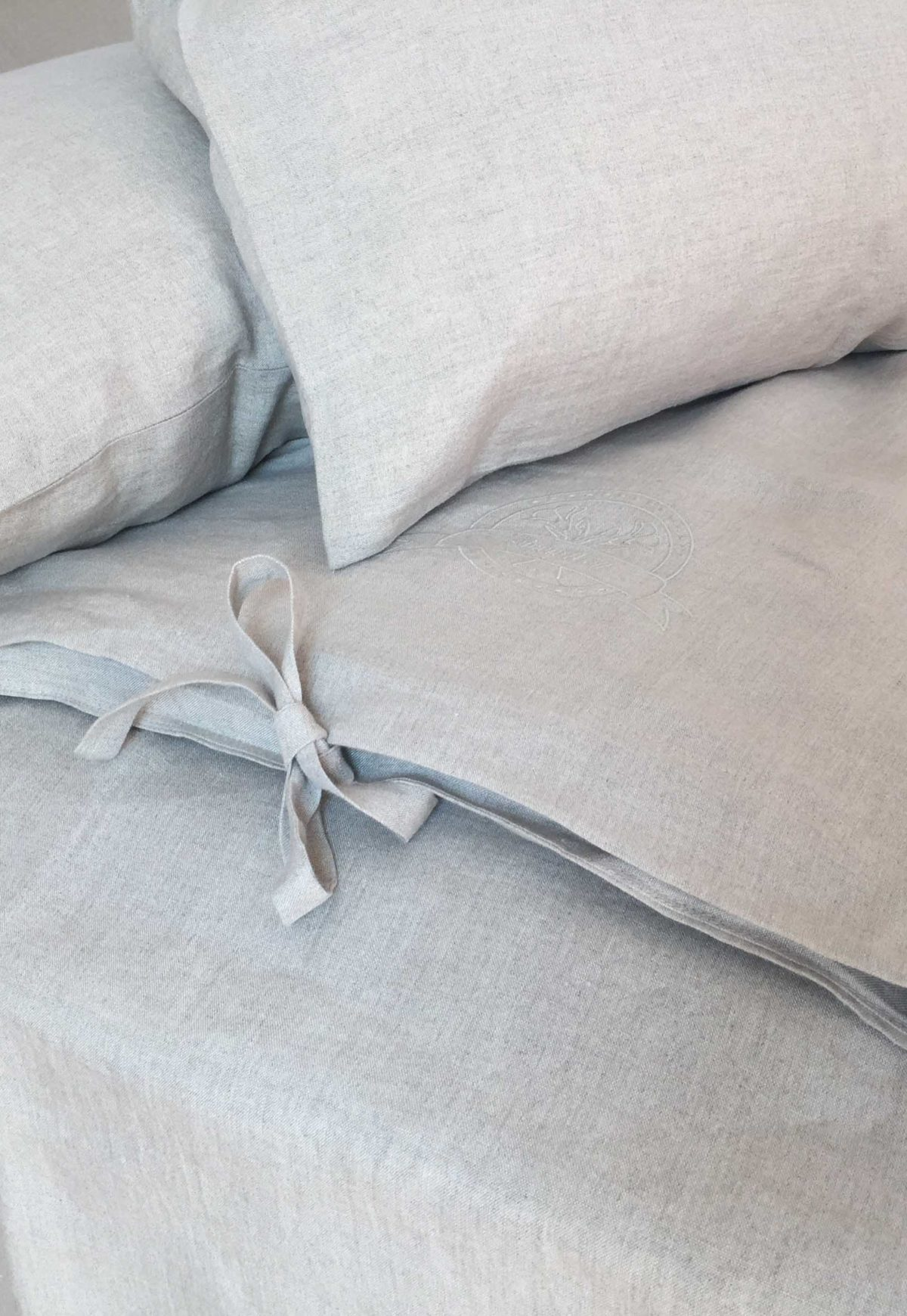 100% linen bedding + sheet set 200x200cm