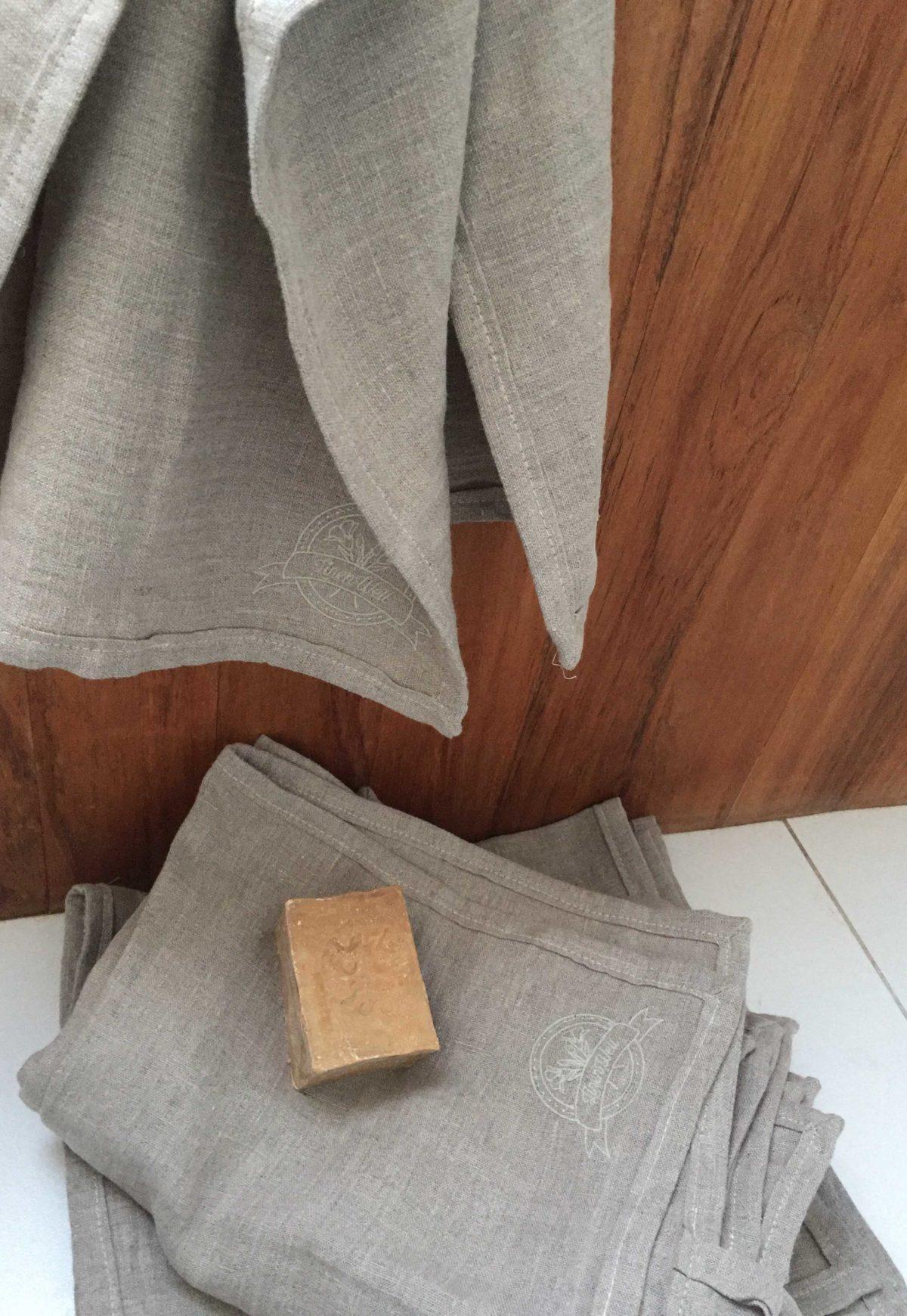 Ręcznik lniany do twarzy 100% len
