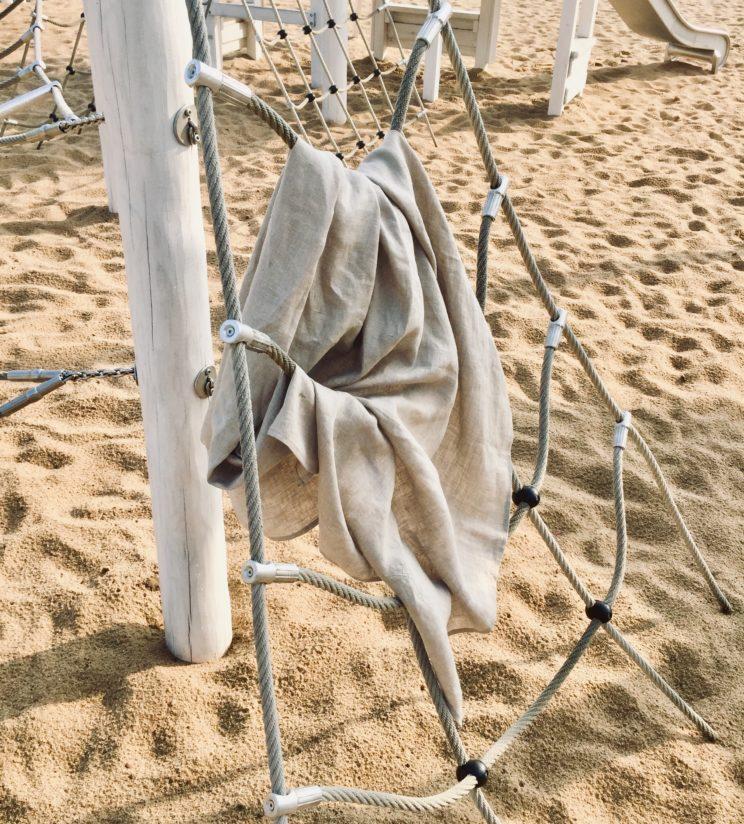 Ręcznik lniany plażowy 100% len z certyfikatem OEKO-TEX®
