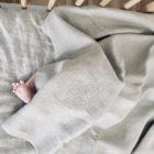 Komplet niemowlęcy 100% len pościel + prześcieradło 100x135cm z certyfikatem OEKO-TEX®