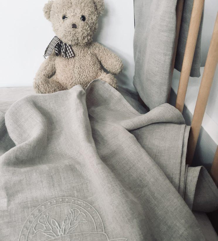 Pościel niemowlęca 100% len 100x135cm z certyfikatem OEKO-TEX®