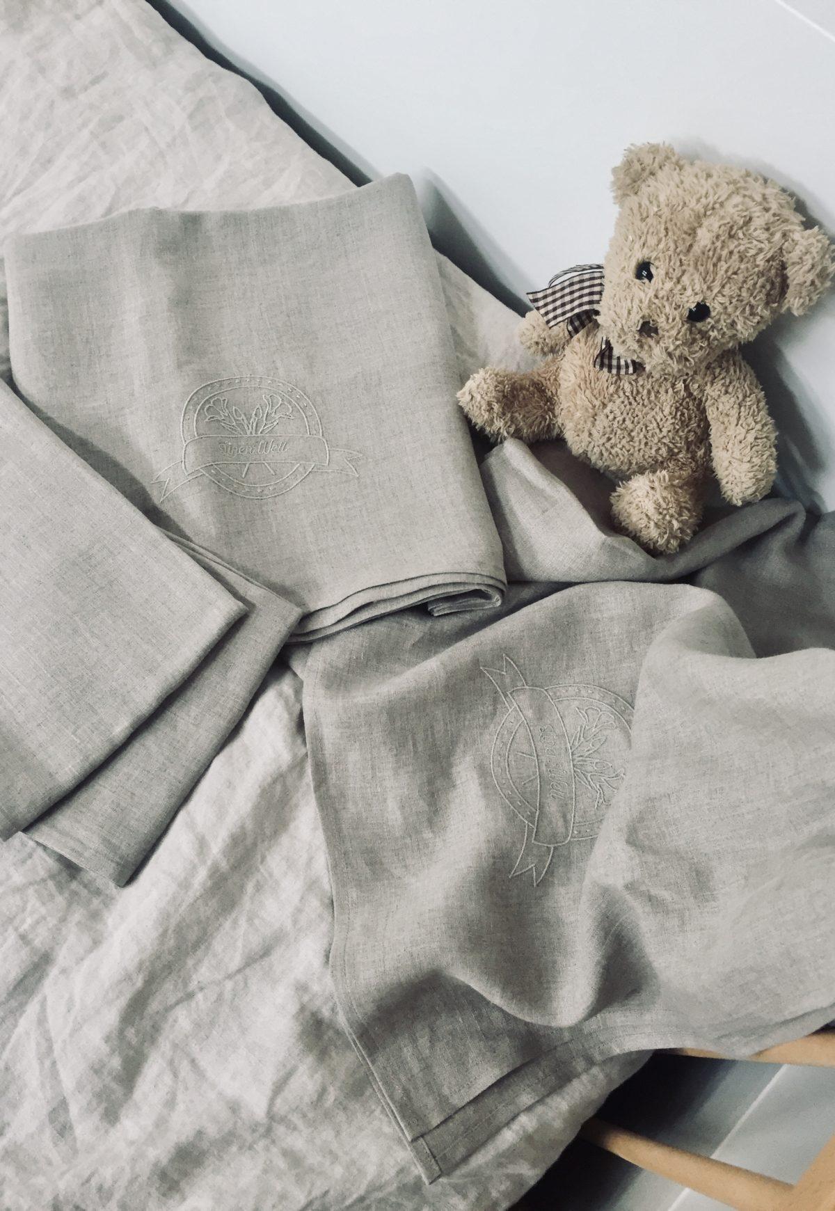 Prześcieradło niemowlęce 100% len 100x160cm z certyfikatem OEKO-TEX®
